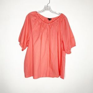 Ann Taylor coral crew neck casual t-shirt